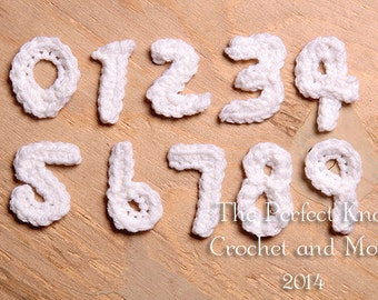 PDF Crochet Pattern - Numbers Appliques