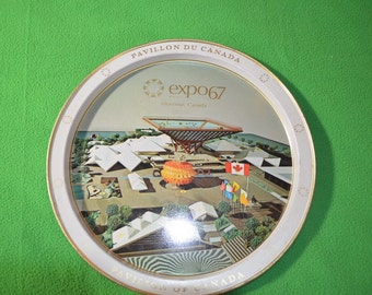 ON SALE   A Vintage Metal Tray From Expo 67 in Montreal Canada
