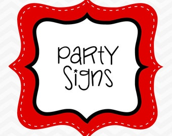 M2M Party Signs