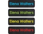 Waterproof Daycare Labels - Great for daycare, preschool, and school - Chalkboard Font