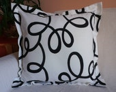 Statement white and black Pillow Case 18 X 18 inches Pillow Black and White Home Decor Ready to Ship Pillow Mens Gift Idea