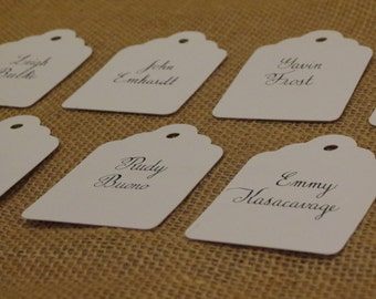 Handwritten Calligraphy for Place Cards