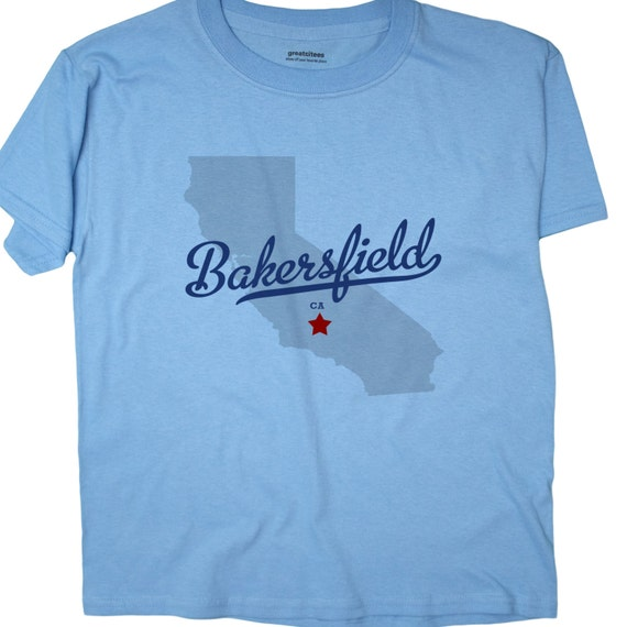 Greatcitees Unisex Bakersfield California Ca Map Hometown