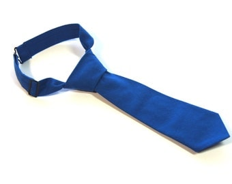Royal Blue Neck Tie With Adjustable Strap