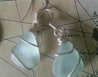 Seafoam seaglass earringsEarrings
