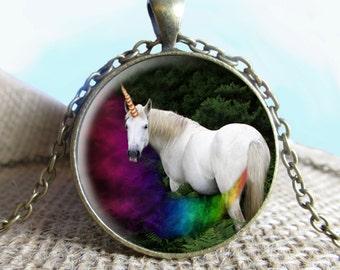 Unicorn Fart Jewelry, Unicorn Necklace, Photography Necklace, Photo Key Chain, Photo Pendant, Wonderland Creature, Necklace Jewelry, Fun