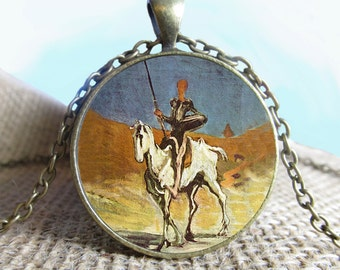Don Quihote, Don quixote Gift, Photography Necklace, Literature, Photo Key, Photo Pendant, Gift Idea