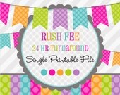 RUSH ORDER: Service Fee Add On -Single Printable File -Invitation -Thank You Card -24 hours or less