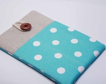 """Kindle Fire HDX 7"""" case Polka Dots Kindle Fire Cover Nook HD 7"""" Case Foam padded with Pocket- Polka Dots"""