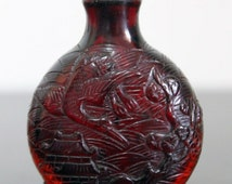 Antique Chinese Red Glass Snuff Bottle Late Qing dynasty China (1850-1920 A.D)