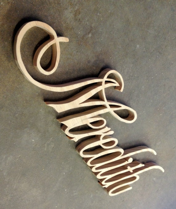 Items Similar To Custom Name Plaques Cut From Scroll Saw