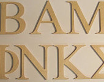 12 inch greek letters wooden letters your choice