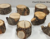 12 extra rustic place card holders, tree card holders, place holders, rustic wedding decor, wood place card holder, rustic wedding supplies