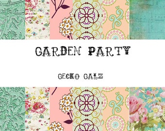 Garden Party Mini Digital Paper Pack
