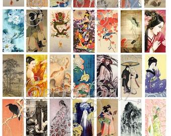 Asian Splendor Domino Collage Sheet