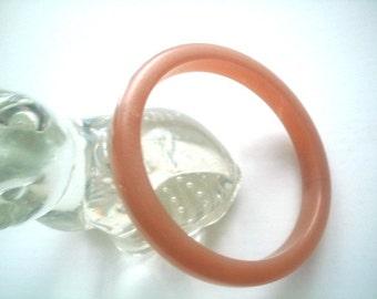 Butterscotch Lucite Bangle Bracelet