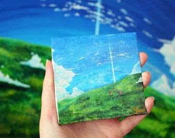 The Tower beyond the clouds Reproduction on Mini canvas