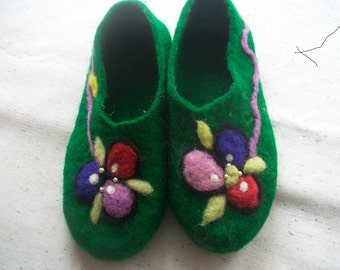 Felted Slippers House Shoes Wool slippers, Original, Warm, Gift
