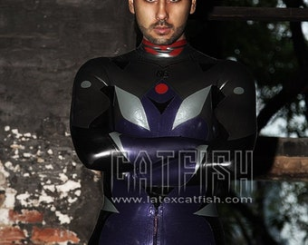 Best Man Gift / EVA Cosplay Nagisa Kaworu  /  Sexy Cool&Tight Man Latex Clothing,Latex Catsuit
