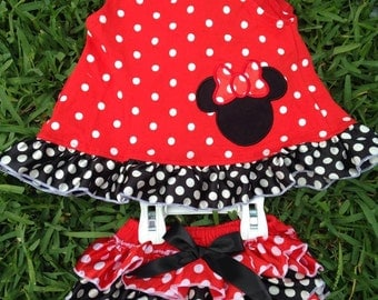 Minnie Inspired Red Swing Top Set