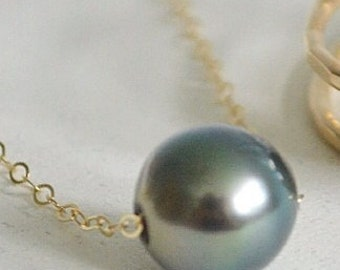 Lei Kahiki- AS SEEN on HAWAI'I 5-0 floating Tahitian pearl necklace