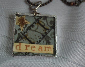 Dream Memory Glass Necklace with Film Ribbon