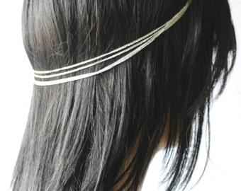 Hair Jewelry, Head Chain, Hair Accessories, Bohemian Hippie head piece, Hair Chain