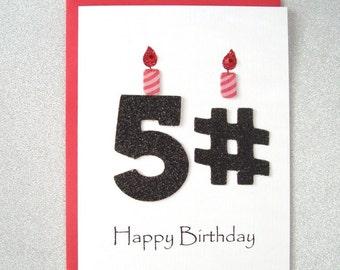 Happy Birthday Card - 51st, 52nd, 53rd, 54th, 55th, 56th, 57th, 58th, 59th Birthday