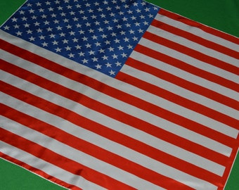 Scarf flag American flag United States silk maus & hoffman