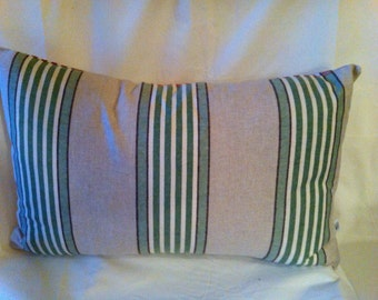 Single Christmas Pillow Red and Green-Unique- 23x14 Inch Kidney Accent Pillow Cover-Free Shipping