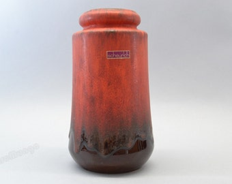 Scheurich vase West Germany - 549 21 brown and matt red color