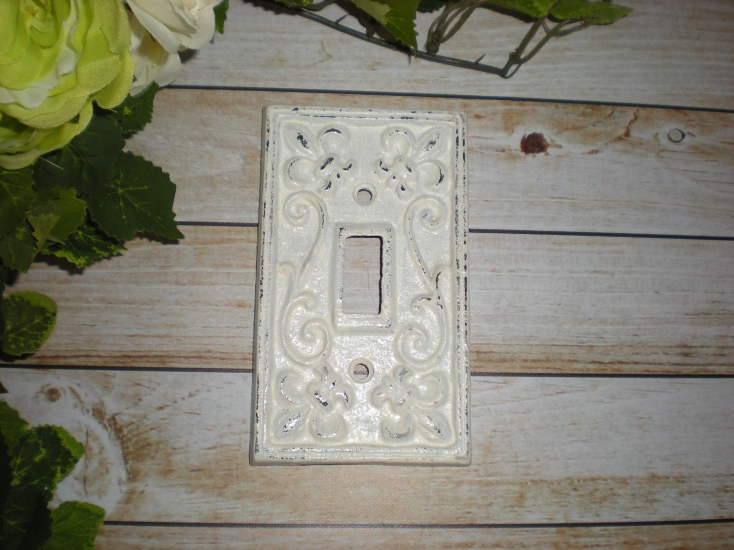White decorative light switch plate single switch cover for Unique light switch plates