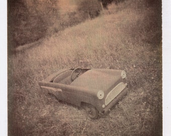 Antique Pedal Car In Tuscany Photograph
