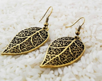 LEAVES of GOLD EARRINGS