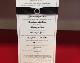 Wedding Ceremony Program Card