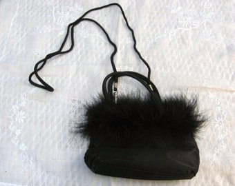 Furry Party Purse / Black Evening Purse / Black Formal Purse / women / teens / women's accessories