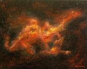 "Original acrylic painting ""Dragon nebula"" 18""x24"""