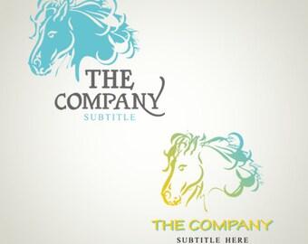 Logo Design OOAK Logo Premade Custom Logo and Watermark Horse logo Animal Logo Pet logo Farm Logo Photography Logo Business Logo