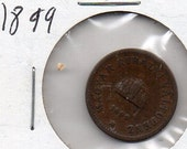 Hungary 1899 2 coin  nice copper