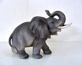 Vintage Lefton Gray Elephant Figurine Japan