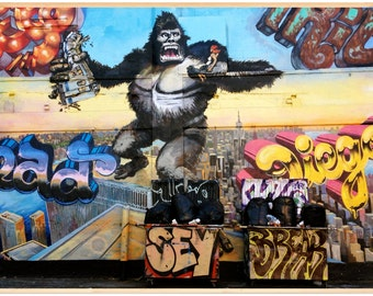 Queens, 5 Points, 5 Ptz, Graffiti, King Kong, Photography, Five Points, LIC, Long Island City, FREE SHIPPING!