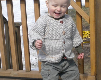 Knitting Pattern - Baby Sweater - Lil Joe - Knitting Pattern for Babies Sizes 0-12 months