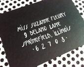 SUZANNE : Custom Wedding Calligraphy Envelope Addressing Art Deco Great Gatsby
