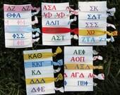 You Pick - Choose your Sorority Hair Tie or Headband Single Rush Greek Bid Gift Alpha Delta Kappa Sigma