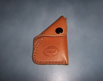 Leather Coin, Pill Pouch  with snap or button stud closure in choice of colors. ... Handmade in the USA.