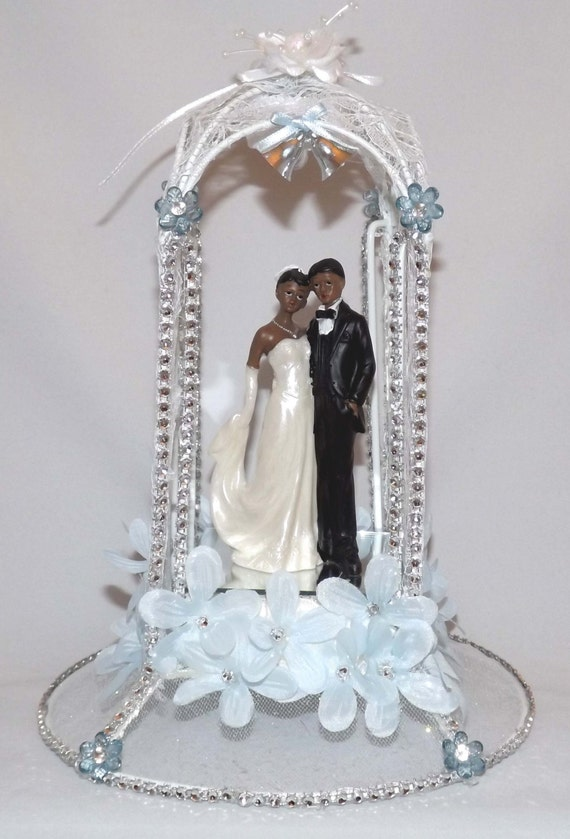 african american cake toppers for wedding cakes lighted american wedding cake topper by mbzcreations 10594