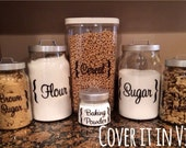 Canister Labels - Customizable (set of 6)