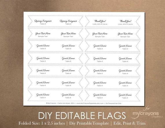 Printable Drink Flags DIY Mini Flags // Printable Party Flag