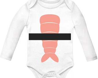 Halloween Sushi costume long sleeve baby bodysuit