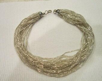 Vintage 34 strand glass beaded Fancy dress Necklace Wild & Wonderful